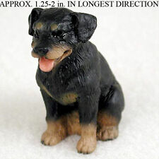 Rottweiler Mini Hand Painted Figurine Hand Painted