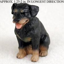 Rottweiler Mini Resin Hand Painted Dog Figurine Statue Hand Painted