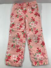 Gymboree Cherry Blossom Size 4T Pink Peach Flower Woven Pants