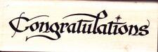 Enhorabuena (Large) - sello de goma montado madera-Personal Impressions
