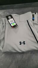 Under Armour Mens Utility Pants Xl/ Gray with Navy Stripe, Stains