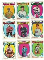 1971-72 OPC HOCKEY, YOU CHOOSE $2.25