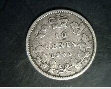 1900 Canada,Diez Centavos Mediano,a Alto Grado Circulación,.0691oz SLV (Can-623)