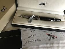 NEW MONTBLANC MEISTERSTUCK SOLITAIRE STAINLESS STEEL FOUNTAIN PEN 101403 LEGRAND