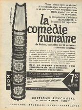 Publicité  //   LA COMEDIE HUMAINE  éditions rencontre