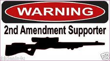 Warning Gun Rights USA Decal Sticker Funny Helmet Hardhat ATV Toolbox 2.75 x 5