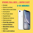 Fast iPhone Info Checker IMEI Check ICloud Lock SimLock Carrier Find My Iphone
