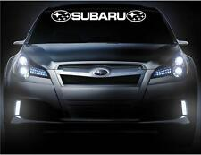 subaru front Windshield Vinyl  decal Banner 2 logos car Decals Sticker stickers