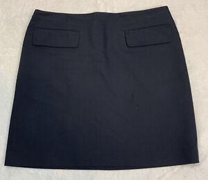 NWOT Ann Taylor Women's Size 8 Blue Lined Career Work Straight Skirt