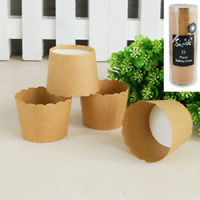 BROWN KRAFT PAPER BAKING CUPS PACK OF 12 BIRTHDAY PARTY SUPPLIES