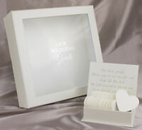 OUR WEDDING CARDS DROP BOX GUESTS GUEST BOOK WISHING WELL WISHES 80 hearts gifts
