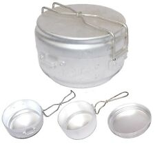 1960s Czech Army Mess Tin 3pcs Set lightweight compact camping cook pan festival