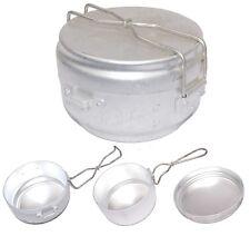 Czech Army Mess Tin 3pcs Set lightweight compact camping cook pan festival 1960s