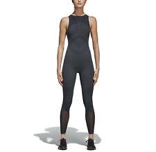 adidas Originals Women's Warp Knit Bodysuit Seamless Jumpsuit Yoga Gym M L