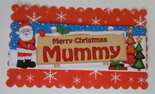 PACK 2  MERRY CHRISMAS MUMMY TOPPER EMBELLISHMENTS  FOR CARDS AND CRAFTS