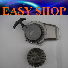Flywheel Fly Wheel + Alloy Pull Start 47 49cc ATV QUAD Bike Dirt Pocket Rocket