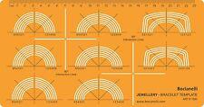La plantilla de dibujo de plantilla de joyas de diseño de joyería Pulsera círculo Anillo