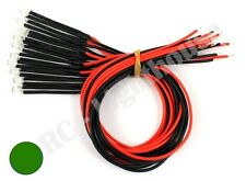 RC LED Light Replacement Lead Prewired, 2pc Flashing Green 5mm