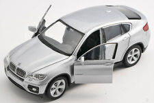 BLITZ VERSAND BMW X6 / X 6 silber 1:34 Welly Modell Auto NEU & OVP