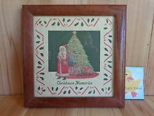 """Christmas Memories Framed Die Cut Picture Wall Decor 10"""" x 10"""" Vintage 1988"""