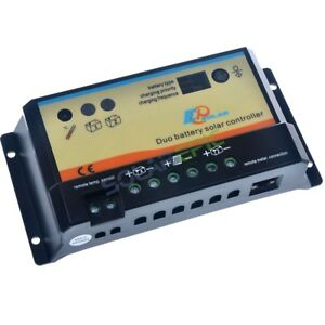 20A Dual Battery Solar Charge Controller Epever 10A Regulator 12V/24V EPIPDB-COM