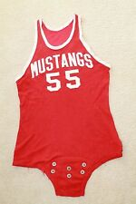 1950s Vintage SMU Mustangs Game Used #55 Durene College Basketball Jersey