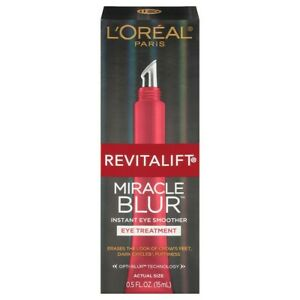 Loreal Miracle Blur Instant Eye Smoother Treatment 0.5 oz
