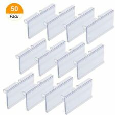 Big Clear PVC Plastic Price Tag Sign Label Display Holder Thickening Store Shelf