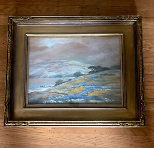 Antique Gauche on Paper Painting by Famous California Artist A.Jacobson