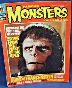 Famous Monsters of Filmland Magazine JUL, 1971  PLANET OF THE APES, FRANKENSTEIN