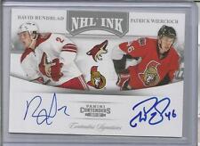 2011-12 Contenders Hockey Rundblad-Wiercioch NHL Ink Dual Autograph Card (CSC)