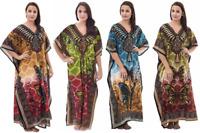 Ladies Women's New Summer Butterfly Print Long Kaftan Dress African Plus Size
