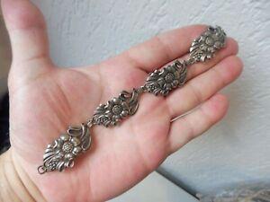 Schönes ,altes Armband , 925 Silber , Blumen , Sterling  !