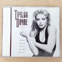 TAYLOR DAYNE WITH EVERY BEAT OF MY HEART 1989 CD SINGLE 3 TRACKS FREE P&P