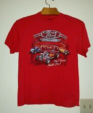 Nice Red HOT ROD DRIVE-IN FAST SERVICE FASTER CARS Size L Tee Shirt