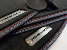 Performance Fußmatten für BMW 3er E92 M3 Original Qualität Velours Metal Logo +4