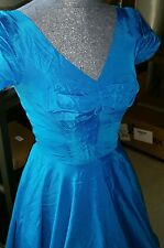 "Vintage 1950s Fit & Flare Dress Full Skirt Swing Retro Patio 'n Party  30-32"" B"