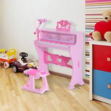 Homcom 37 Tastiera Tasti Pianoforte ELETTRONICO bambini Sgabello microfono Music Stand Rosa