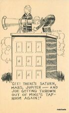 1930s Military Sailors Astronomy Humor Telescope Saturn Jupiter Goucho Postcard