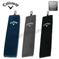 "2018 Callaway Golf Tri Fold Corporate Cotton Bag Towel 16"" x 21""- New 3 colours"