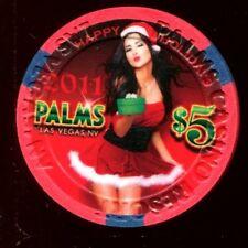 $5 Las Vegas Palms Happy Holidays Christmas 2011 Casino Chip - Uncirculated