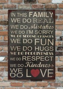 """FAMILY, Motto! 10x8"""" Retro Vintage Metal Advertising Sign Plaque Wall Art Pic"""