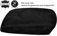 BLACK STITCHING REAL SUEDE ARMREST COVER FITS MAZDA CX5 CX-5 2012-2015