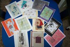 "12 Unique Handcrafted Cards Monogram Initial ""C"" Quality Cardstock"