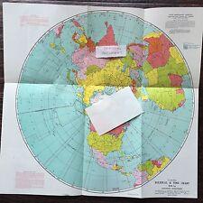 U.S. AIR FORCE Political & Time Chart, GH - 1a, Northern Hemisphere Jan 1947