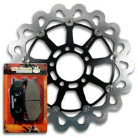 2001-2005 Pads Combo for FZ1 // FZS 1000 Fazer Street Bike Sumo Rear Race Proven 420 Stainless Steel Brake Disc Rotor Yamaha Front