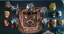 Dance of the Deer Masks and Textile  Mid 20th century 13 Guatemala Masks )