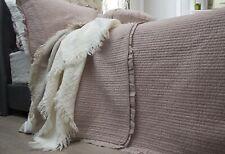 Audrey Pink 100% Cotton Coverlet Bedspread Bedcover Comforter Set 3pcs - King