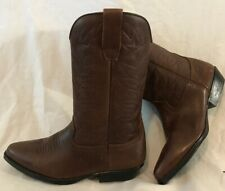Levi's Dark Brown Mid Calf Leather Beautiful Boots Size 38 (18vv)