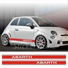 Adesivi Fiat 500 ABARTH fasce CONTINUE strisce fiancate fiat 500 spatola OMAGGIO
